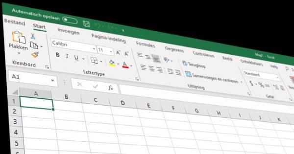 Een spreadsheet als ad-hoc tool, maar nog geen operationele software
