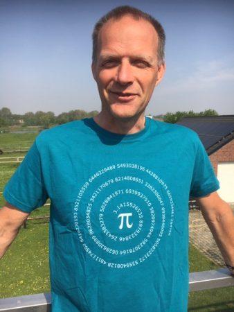 Rob Agtersloot heeft een VORtech pi-dag T-shirt gewonnen